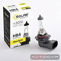 Лампа автомобильная HB4 с увеличенным светом на 30% ✔ производитель: SOLAR  ✔ 12W