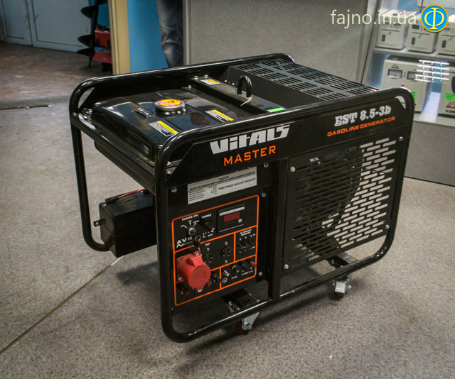 бензиновый 3-фазный генератор Vitals EST 8.5 3B