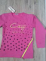Толстовка с начесом для девочки розовая р.8-12 Atabay Kids