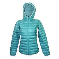 Женская пуховая куртка Columbia FLASH FORWARD™ HOODED DOWN JACKET бирюзовая WL1059 354