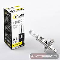 Лампа автомобильная H1 с увеличенным светом на 30% ✔ производитель: SOLAR  ✔ 12W