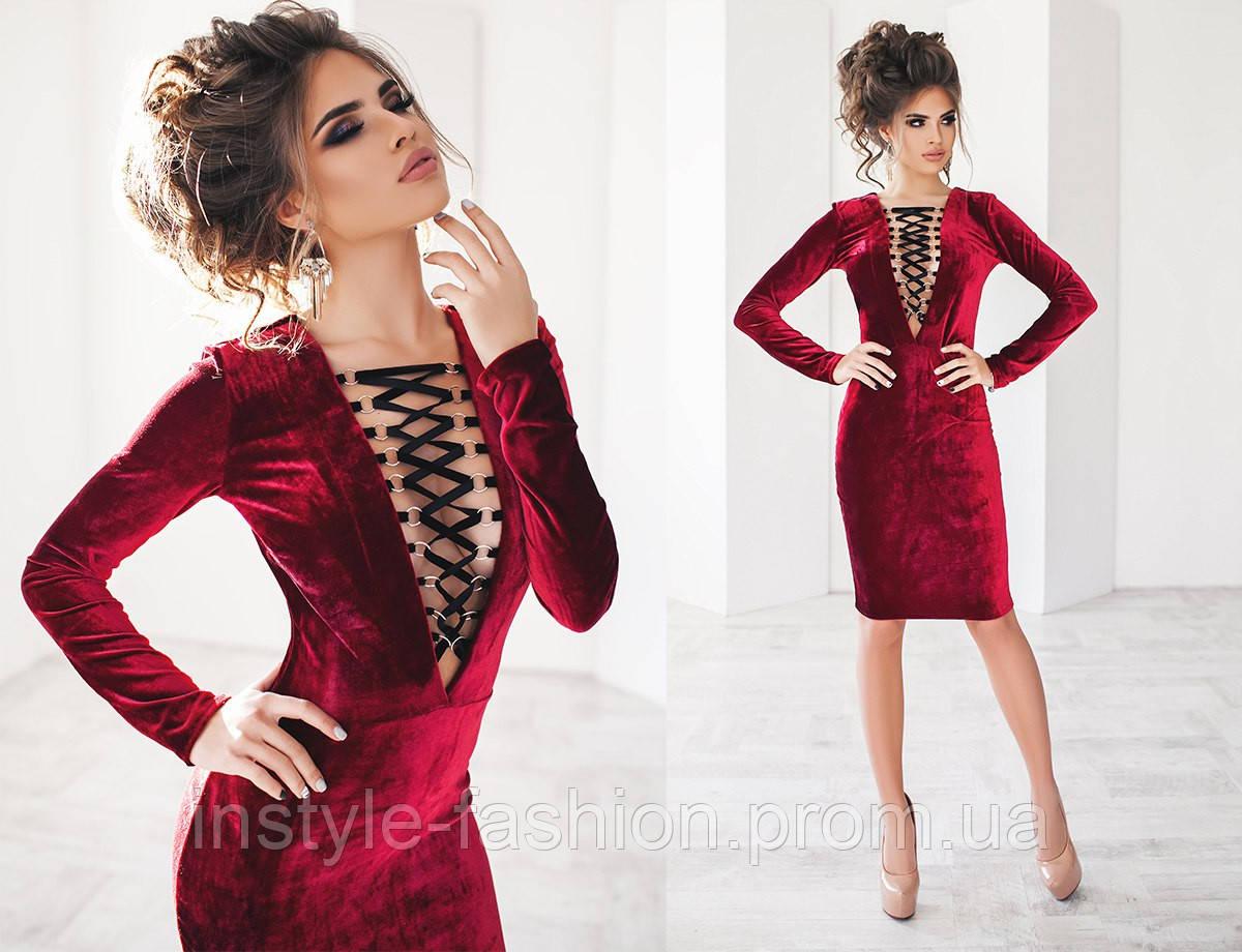 Платье материал велюр