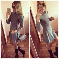 Платье короткое с расклешенной юбкой