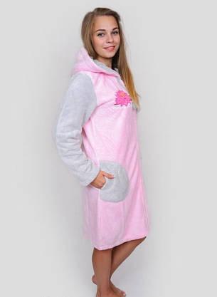 Жіночий халат махровий рожевий, фото 2