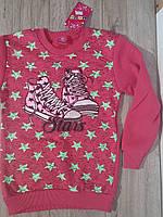 Толстовка с начесом для девочки розовая р.134-152 URUS