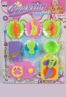 Игрушечные овощи и фрукты с посудой 129-203