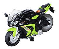 Мотоцикл Kawasaki Ninja ZX-10R свет, звук - зеленый 25 см Toy State (33411)