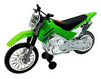 Мотоцикл Kawasaki KLX 140 Moto-Cross Bike свет, звук - зеленый 25 см Toy State (33412)