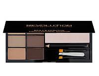 Набор для бровей Makeup Revolution Ultra Brow Palette fair to medium