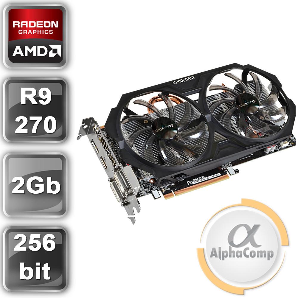 Відеокарта PCI-E Gigabyte ATI R9 270 (2Gb/GDDR5/256bit/2xDVI/HDMI/DP)