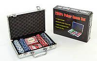 Покер в алюминиевом кейсе на 200 фишек с номиналом