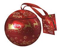 Шоколадные конфеты Zlota Wisnia Goplana в елочном шаре (вишня в шоколаде), 190 гр