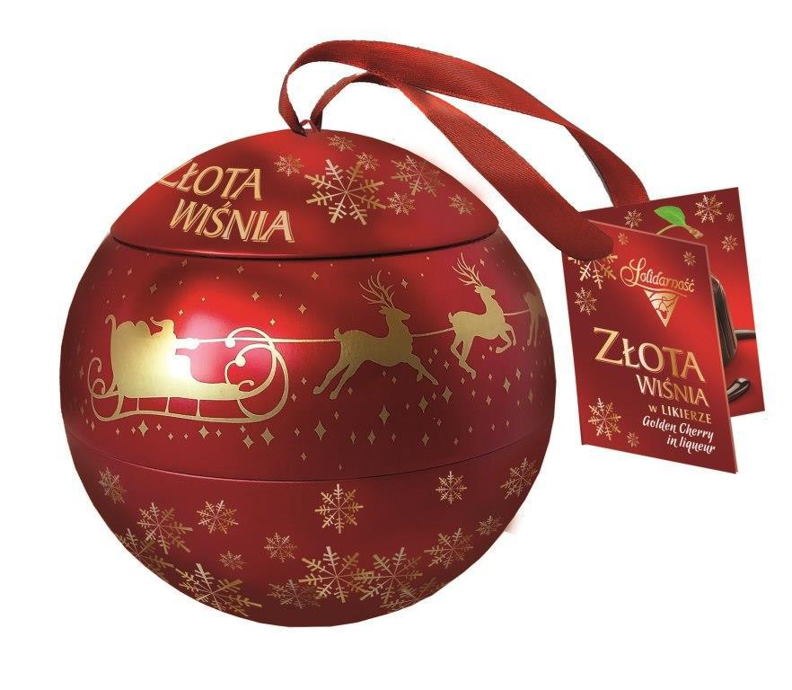 Шоколадные конфеты Zlota Wisnia Goplana в елочном шаре (вишня в шоколаде), 190 гр - Продукты из Италии - интернет магазин «Market IT» в Львове