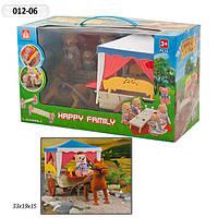 """Домик """"Happy Family"""", флоксовые животные, дом на колесах, в кор. 55*19,58*23,5см (16шт)"""