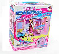 Набор мебели: гардероб с платьями, туалетный столик, 1 кукла в наборе, в кор. (12шт)