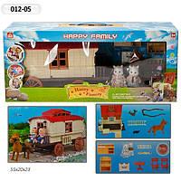 """Домик """"Happy Family"""", флоксовые животные, дом на колесах, в кор. 55*19,58*23,5см (6шт)"""