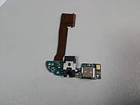 Шлейф с разъемом зарядки, разъемом для наушников и микрофоном для HTC One M8 Original