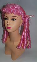 Парик  Кукла розовый 45 см.
