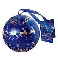 Шоколадные конфеты Sliwka Naleczowska Goplana в елочном шаре (слива в шоколаде), 190 гр, фото 1