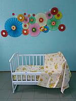 Детское постельное белье 3 в 1, (резинка)