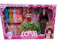 Кукла с нарядами и мужем, Семья 2 куклы