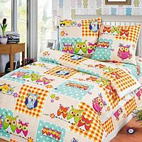 Ткань для  детского постельного бязь Соня (Совы)
