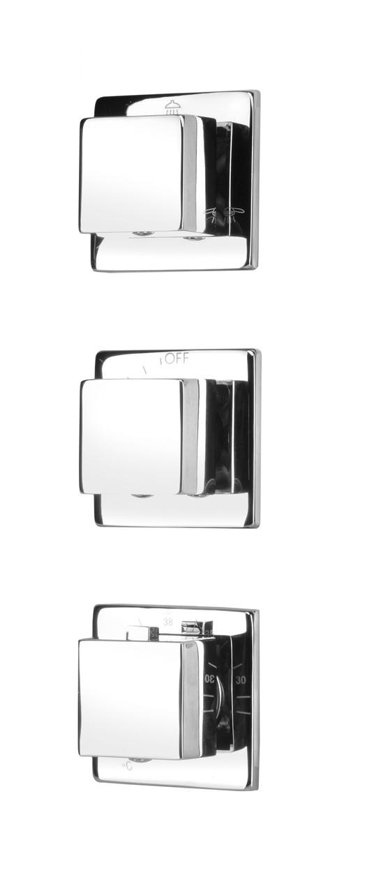 Смеситель скрытого монтажа с термостатом Deante MULTI-SYSTEM, квадратный