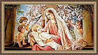 Образ в багетной раме Богородица с младенцем гобеленовая 300х400мм G106