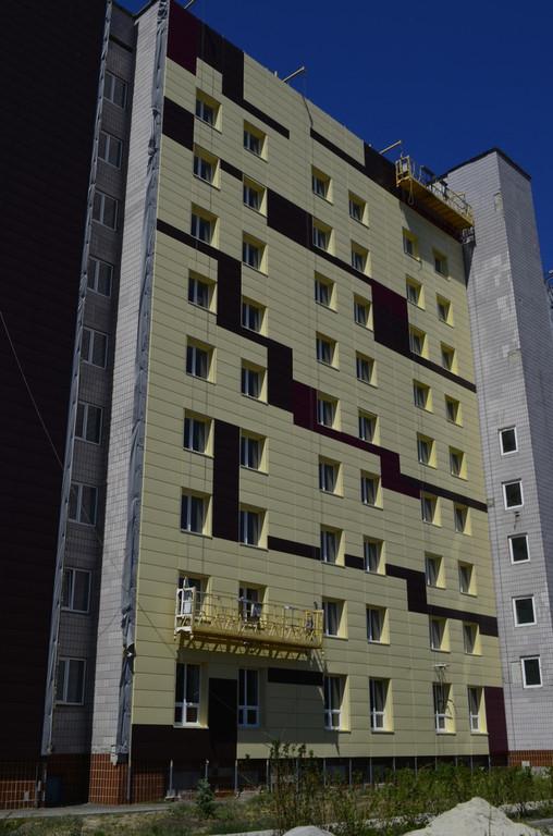 Устройство фасада из металлокассет 1