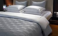 Элитное постельное белье  Hamam BREEZE MEYZER 220х240 White/Navy