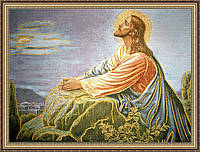 """Образ """"Молитва Иисуса"""" гобеленовая 300х400 мм"""