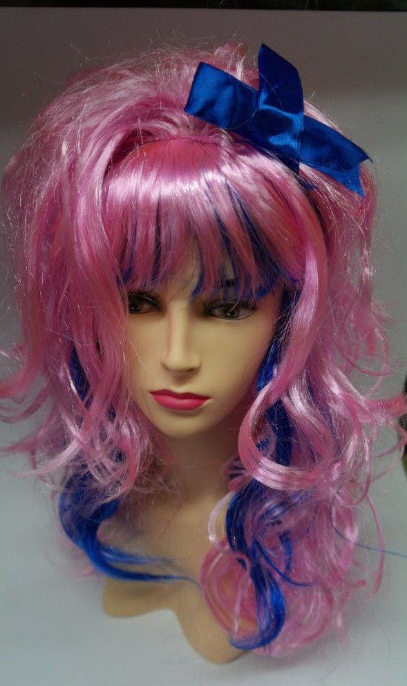 Перука Кокетка Лоліта рожево-синій з бантом