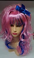 Парик Кокетка Лолита розово-синий с бантом