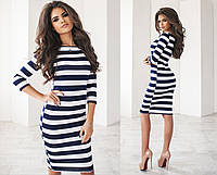 Молодежное платье в полоску 553 (1084)
