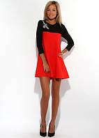 Платье трапеция двухцветное, фото 1