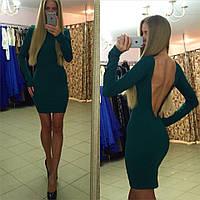 Платье короткое с глубоким вырезом на спине