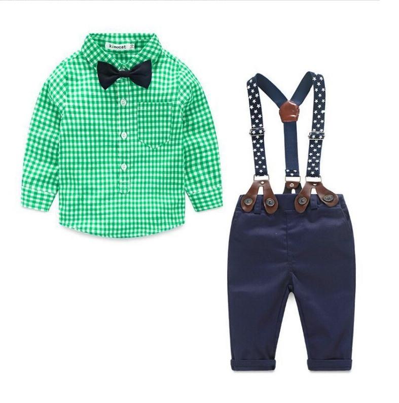 Детский костюм рубашка с бабочкой штаны на подтяжках