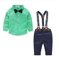 Детский костюм для мальчика с бабочкой , рубашкой , на подтяжках.
