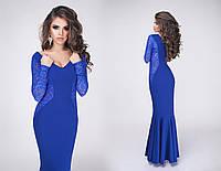 Красивое платье макси с гипюром, фото 1