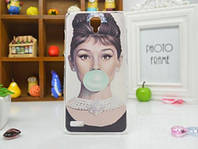 Силиконовый чехол бампер для Xiaomi Redmi Note с рисунком Одри, фото 1