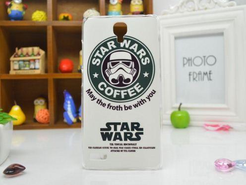 Силиконовый чехол бампер для Xiaomi Redmi Note с рисунком Star Wars