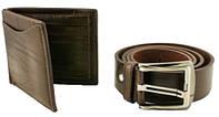 Набор (Портмоне) кошелек и ремень, 210х130х30