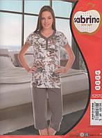 Пижама женская Батальные размеры с капри