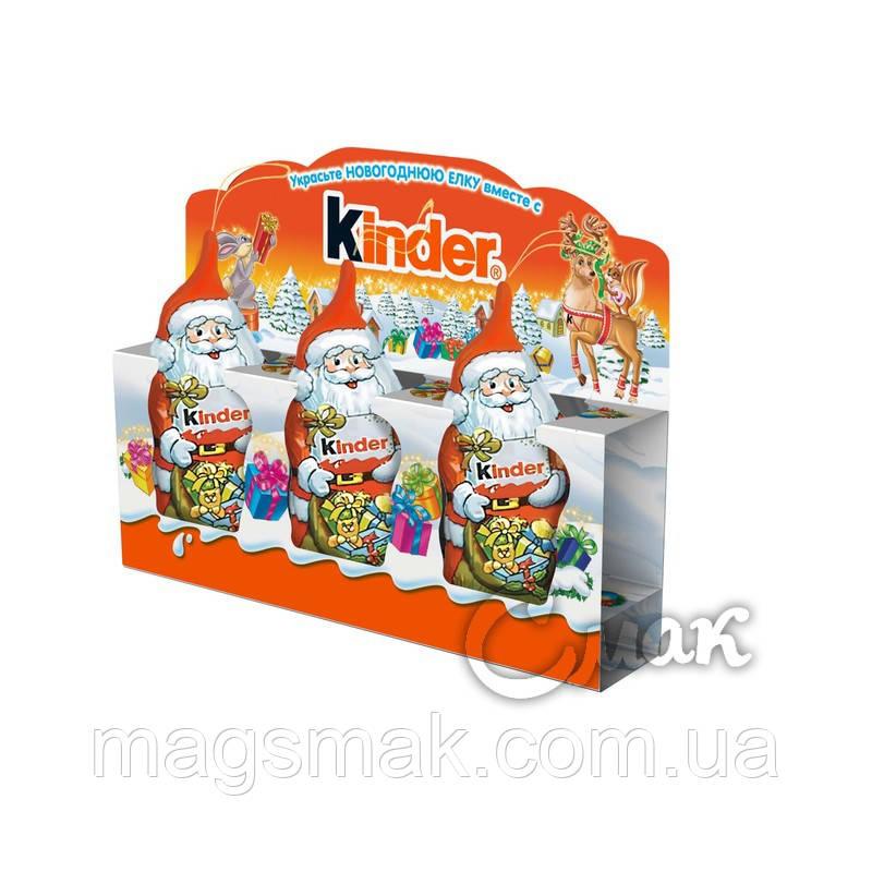Шоколадные фигурки  Дед Мороз Kinder, 45 г + Сертификат соответствия