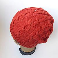 Женска шапка коса на флисе, фото 1
