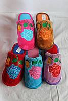 Тапочки женские , 12 пар в упаковке, с розой, Украина/ купить тапочки оптом, ,TAP 1090  А -540