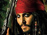 Парик пирата с банданой  и повязкой на глаз 75 см, фото 4