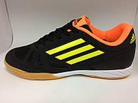 Бампы Adidas черно-оранжевые