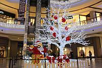 Новогоднее оформление светодиодными гирляндами торговых центров