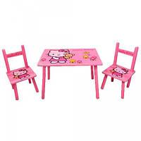 Столик детский и 2 стульчика(Helloy Kitty)